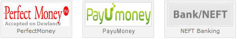 accept perfectmoney, egopay, india neft bank, okpay